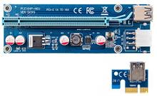 MIT PCIE 1x to 16x Ver009S Riser Card USB 3.0 Adapter Extender